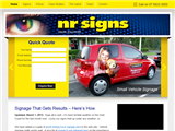 screenshot of Signs Gold Coast by NR Signs
