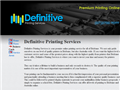 screenshot of Definitive Printing Services