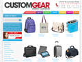 screenshot of www.customgear.com.au
